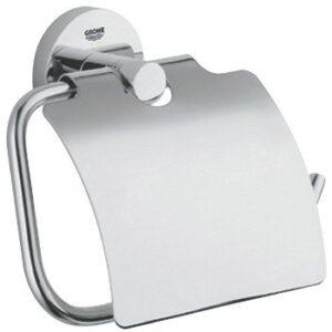 Suport hartie igienica Grohe Essentials cu capac protectie-40367001