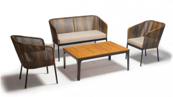 Set terasa/outdoor canapea fotolii si masa structura metalica BARI