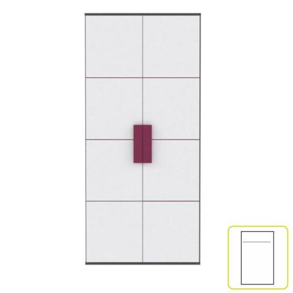 Dulap şifonier, gri/alb/mov, LOBETE S82