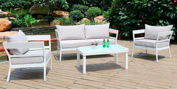Set terasa outdoor canapea fotolii si masa structura aluminiu SET1512