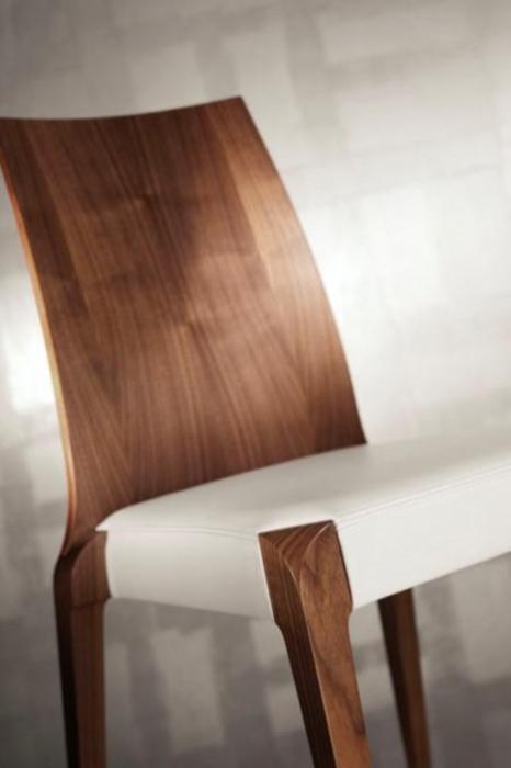Scaun lemn de stejar cu sezut tapitat Sendy 152 SE Rovere