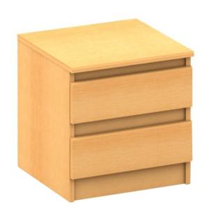 Noptieră cu 2 sertare, fag, HANY 002