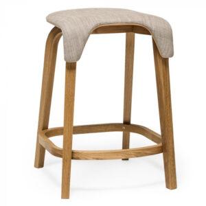 Scaune de bar structura lemn tapitate LEAF