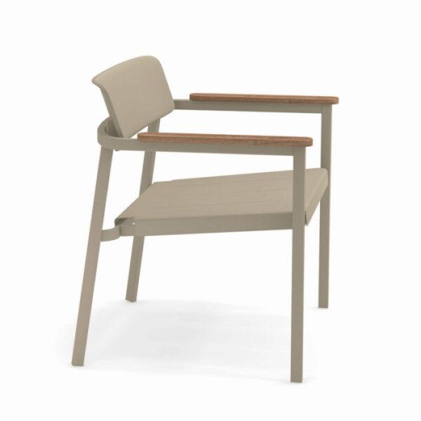 Fotolii lounge exterior metalice cu insertii lemn SHINE