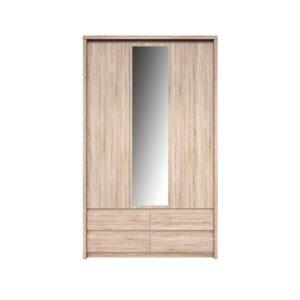 Dulap cu oglindă 3D4S, stejar sonoma, NORTY TYP 1