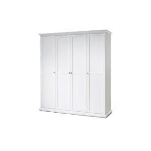 Dulap de haine 75354, PAL înfoliat/MDF lăcuit, alb, PARIS