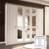 Dulap cu 5 uşi, PAL melaminat, pin alb/stejar sonoma truflă, LUMERĂ