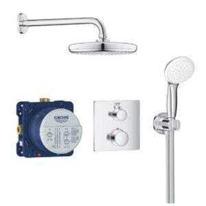 Sistem dus, termostatat, montaj incastrat Grohe Cosmo Grohtherm Perfect Shower-34729000