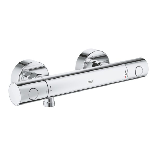 Baterie cabina dus Grohe Grohtherm 800 Cosmo ,termostat,crom,montare perete-34765000