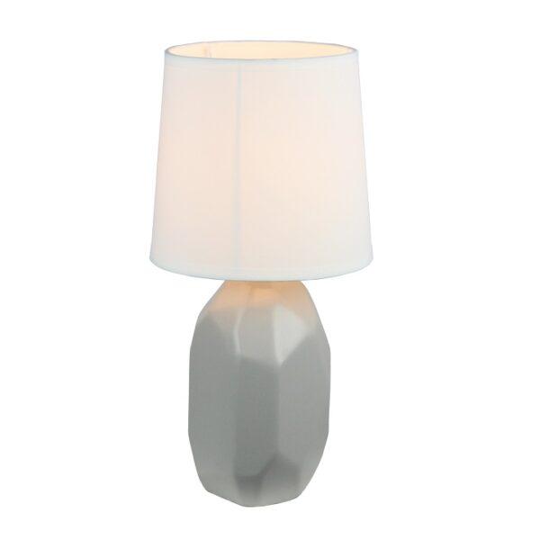 Lampă ceramică de masă, gri, QENNY TYP 2 AT15556