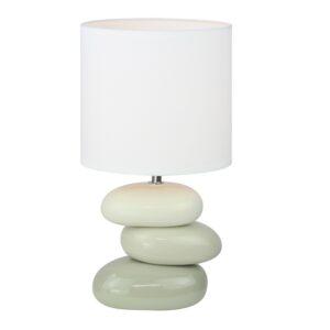 Lampă ceramică de masă, alb/gri, QENNY TYP 4 AT16275