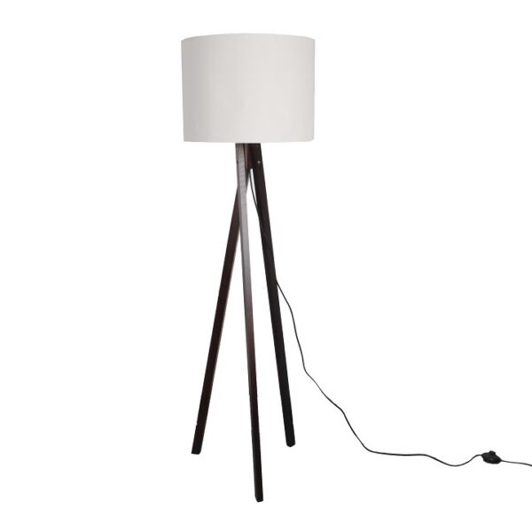 Lampă pe picior, alb/lemn negru, LILA TYP 9 LS6062