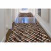 Covor de lux din piele, maro/negru/alb, patchwork, 144x200, PIELE DE VITĂ TIP 3