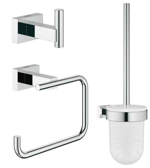 Set accesorii baie 3 in 1 Grohe Essentials Cube-40757001