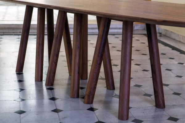 Mese lemn baza cu 12 picioare MOS-I-KO 001 F
