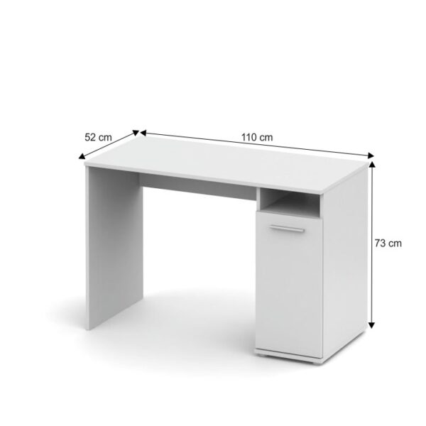 Masă PC, alb, NOKO-SINGA 21