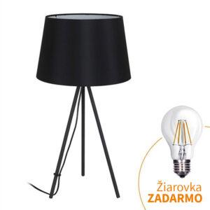 Lampă de masă Milano wa005-b, neagră, trepied