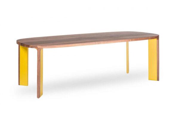 Mese din lemn blat oval ACRO-BAT 002