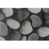 Covor 160x235 cm, maro/gri/model pietre, MENGA