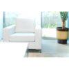 Scaun tapiţat, piele eco albă, ORAGION