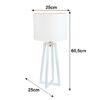 Lampă de masă, alb, QENNY 14