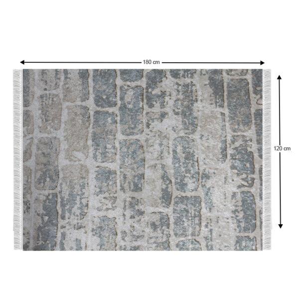 Covor, gri/model cărămidă, 120x180, MURO