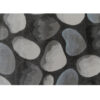 Covor 133x190 cm, maro/gri/model pietre, MENGA