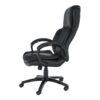 Fotoliu de birou, piele /piele ecologică neagră, LUMIR