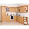 Cabinet de bucătărie, superior, stânga, anin, LORA MDF NEW KLASIK W40 / 735