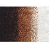 Covor de lux din piele, alb/maro/negru, patchwork, 140x200, KOŽA TYP 7