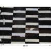 Covor de lux din piele, maro/negru/alb, patchwork, 171x240, PIELE DE VITĂ TIP 6
