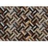 Covor de lux din piele, maro/negru/bej, patchwork, 120x180 , PIELE DE VITĂ TIP 2