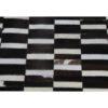 Covor de lux din piele, maro/negru/alb, patchwork, 69x140, PIELE DE VITĂ TIP 6