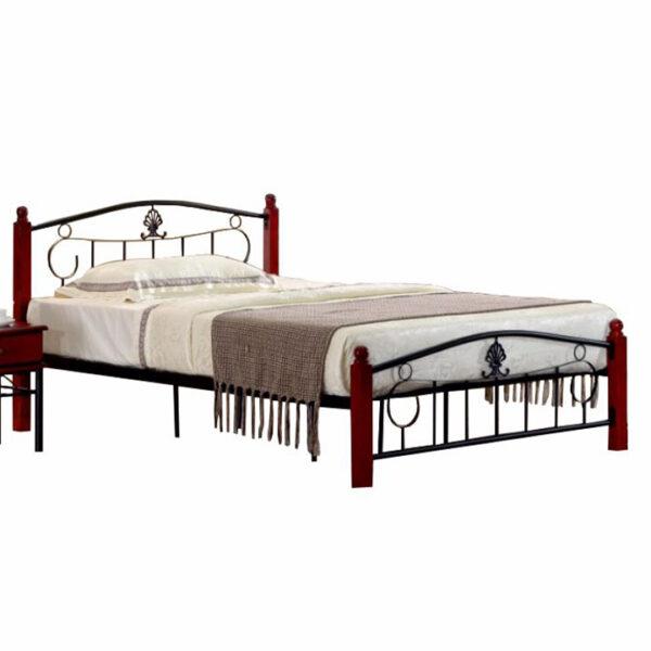 Cadru pat metal cu somieră, 140x200, MAGENTA