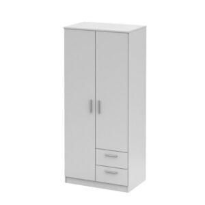 Dulap cu două uşi, alb, NOKO-SINGA 81