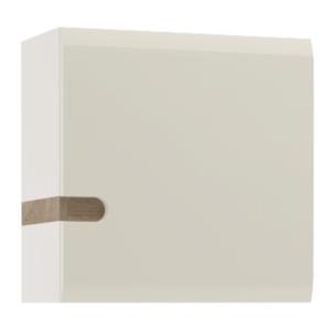 Dulap suspendabil, alb extra luciu ridicat HG/stejar sonoma închis la culoare truflu, LYNATET TYP 65