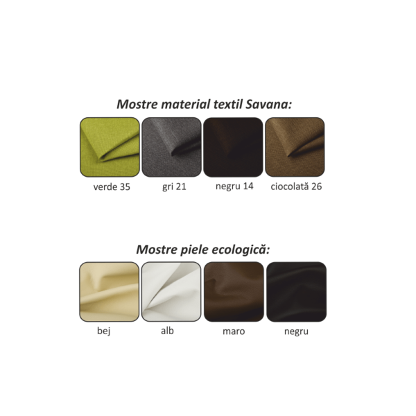 Colţar model dreapta, piele ecologică neagră/material gri/cusătură neagră, PETER NEW
