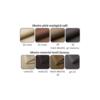 Colţar universal, gri/negru, MARBELA LUX 2+2