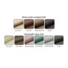 Colţar universală, piele ecologică albă/material textil maro, KAMELIA