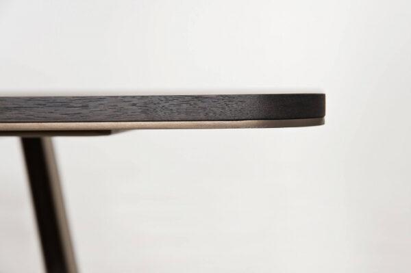 Mese din lemn blat subtire detalii metalice MOBIUS 001