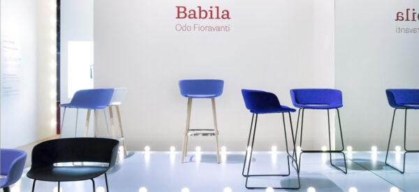 Scaune bar cadru lemn scoica tapitata BABILA 2758/2