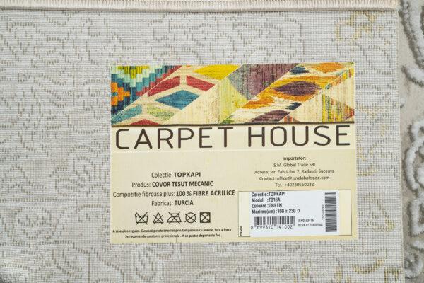 TOPKAPI-MODEL T013A-CULOARE GREEN 160x230