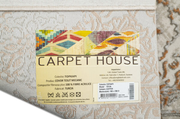 TOPKAPI-MODEL T013A-CULOARE COPPER 160x230