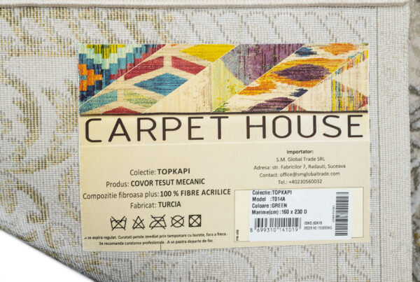 TOPKAPI-MODEL T014A-CULOARE GREEN 120x180