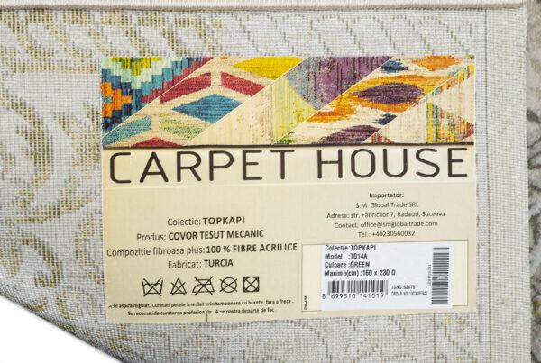TOPKAPI-MODEL T014A-CULOARE GREEN 160x230