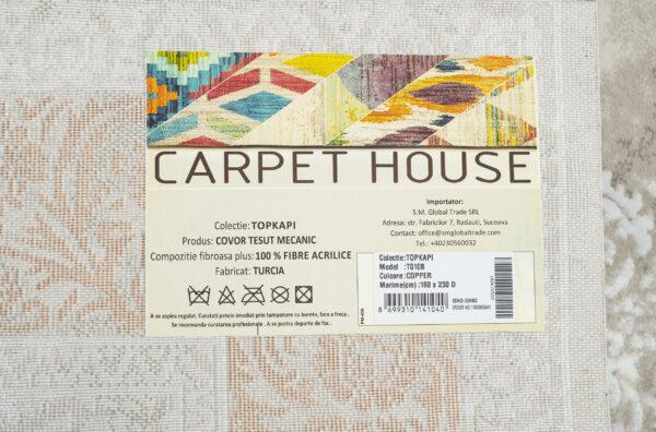 TOPKAPI-MODEL T010B-CULOARE COPPER 120x180