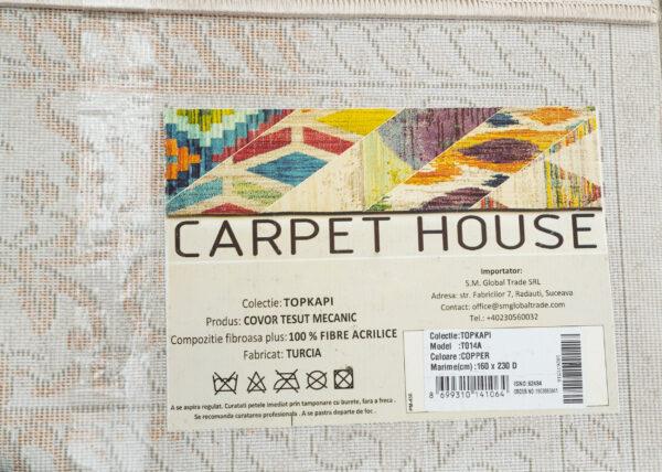 TOPKAPI-MODEL T014A-CULOARE COPPER 120x180