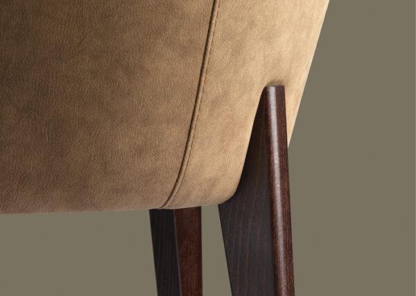 Fotolii moderne tapitate cadru lemn KYK 542