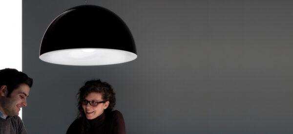 Lampa suspendata cu abajur din policarbonat L002S/BA