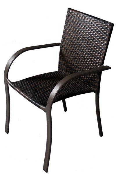 Set patru scaune si masuta de cafea pentru terasa, din imitatie ratan - TRS 102